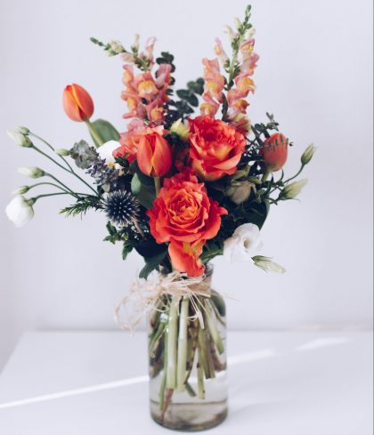 Bouquet of flowers for 90th birthday gift