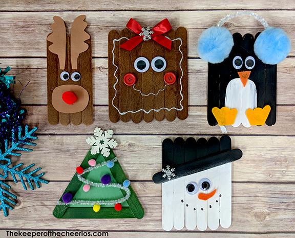DIY Christmas craft sticks for kids