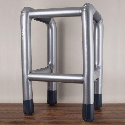Inflatable zimmer frame