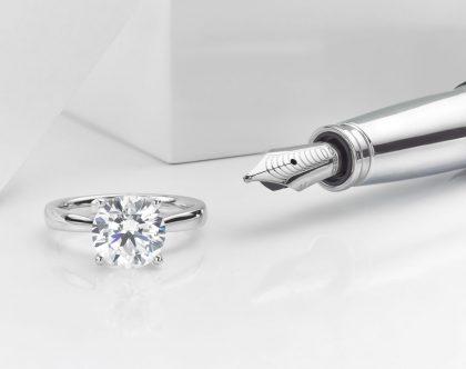 Platinum ring and pen