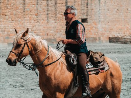 Man horse riding