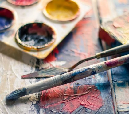 Paintbrushes for mindful painting