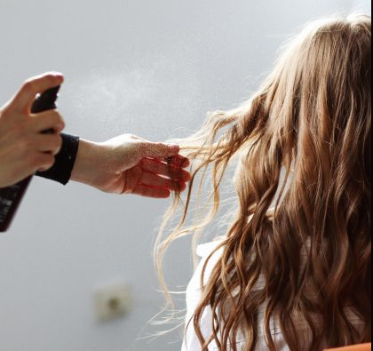 Salon hair treatment