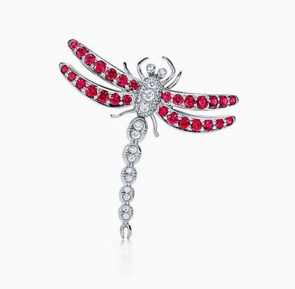 Tiffanys Ruby Dragonfly Brooch