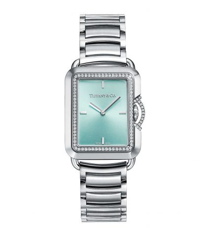 Tiffany T Limited Edition Diamond Rectangle Watch