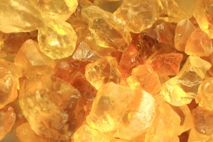 Yellow citrine gemstones