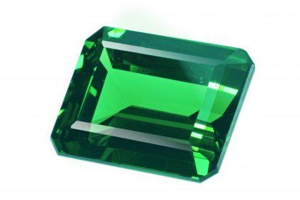 Square cut emerald stone