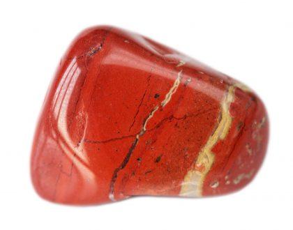 Red semi-precious natural jasper stone