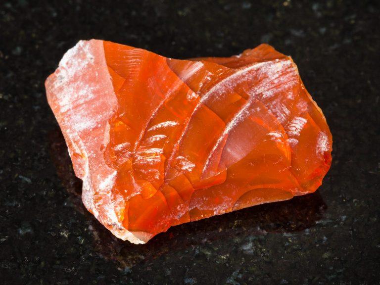 rough fire opal gemstone