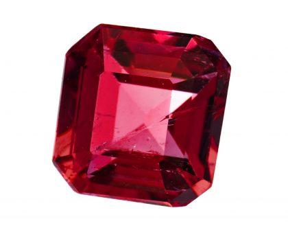 Red apatite gemstone