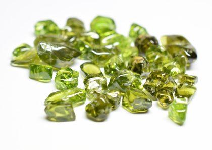 Green peridot tumbled gemstones