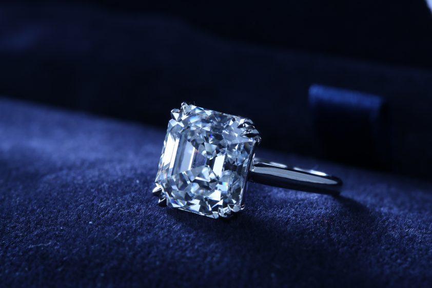 Asscher Cut Blue Diamond