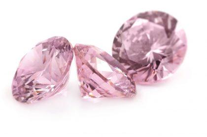 Pink morganite gemstones