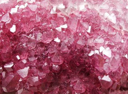 Pink tourmaline natural quartz gem crystals