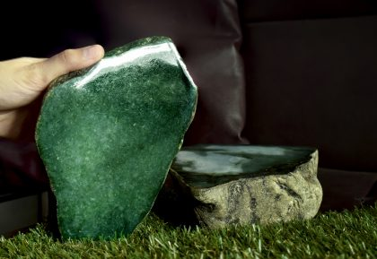 Real jade, jadeite, that is rare and expensive