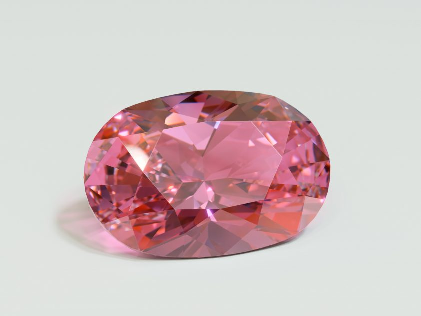 Oval pink padparadscha sapphire