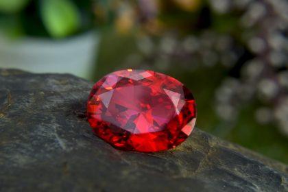 Dark red ruby red gemstone