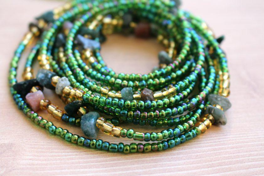 Green Fancy Jasper Waist Beads