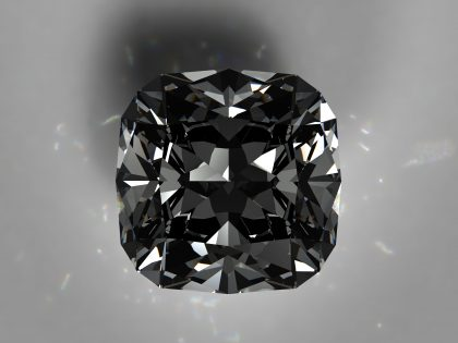 Square cut black diamond