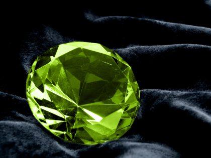 Green diamond jewel