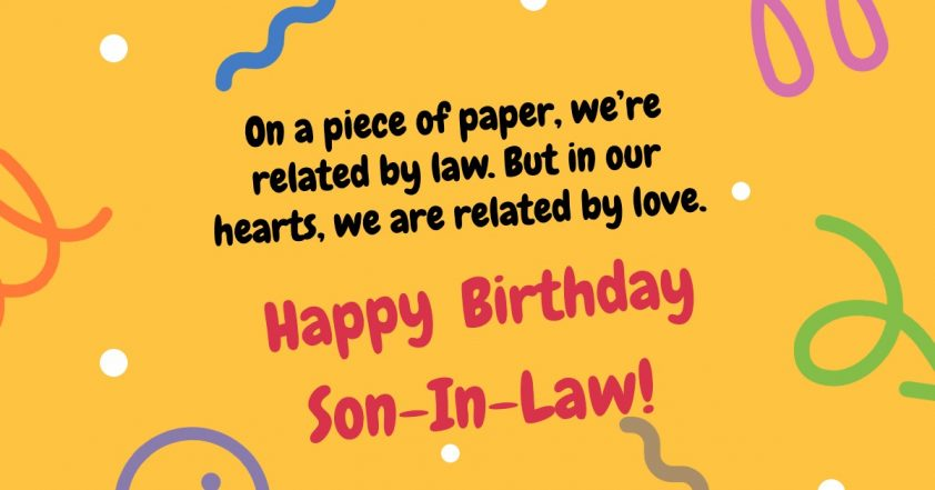 Birthday message from mom-in-law
