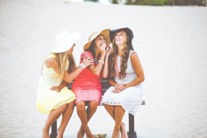 Three girl cousins laughing
