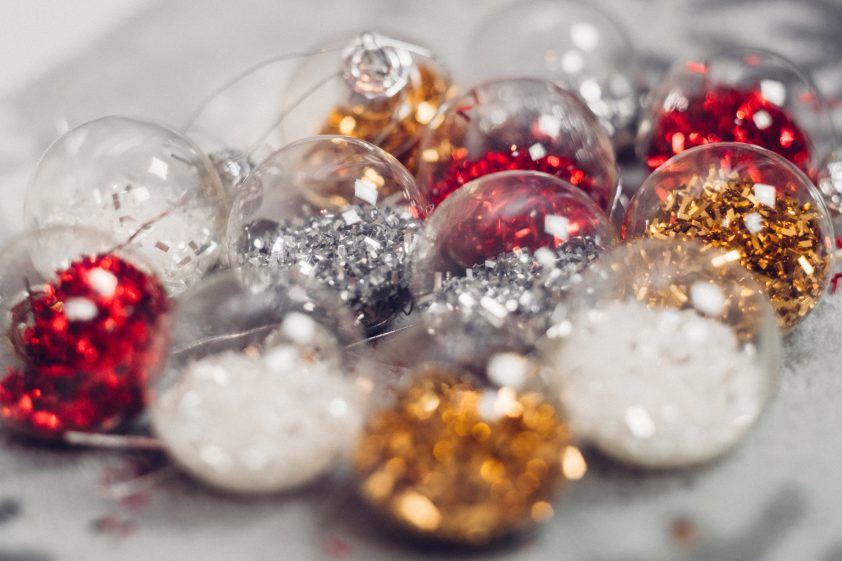 Festive Christmas decorations
