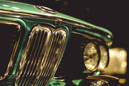Vintage emerald green BMW