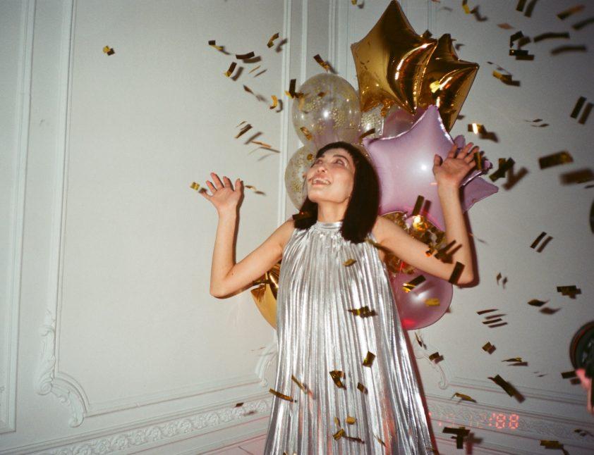 Woman celebrating her birthday
