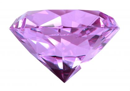 Close-up of singe purple crystal diamond