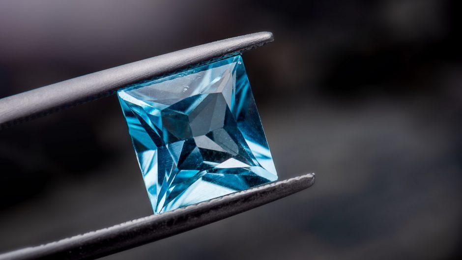 Blue topaz gemstone jewelry