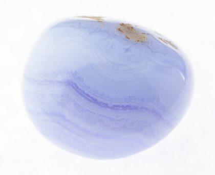 Tumbled blue lace agate (chalcedony, sapphirine?