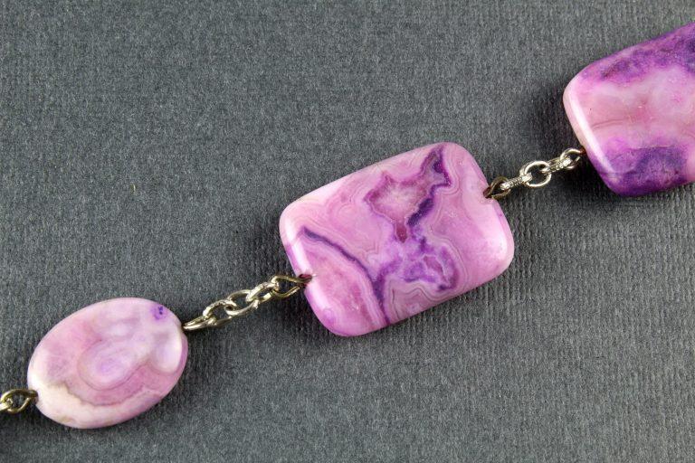 Bracelet of natural sugilite stone