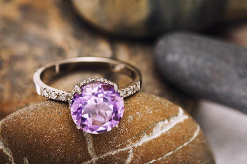 Beautiful purple diamond ring