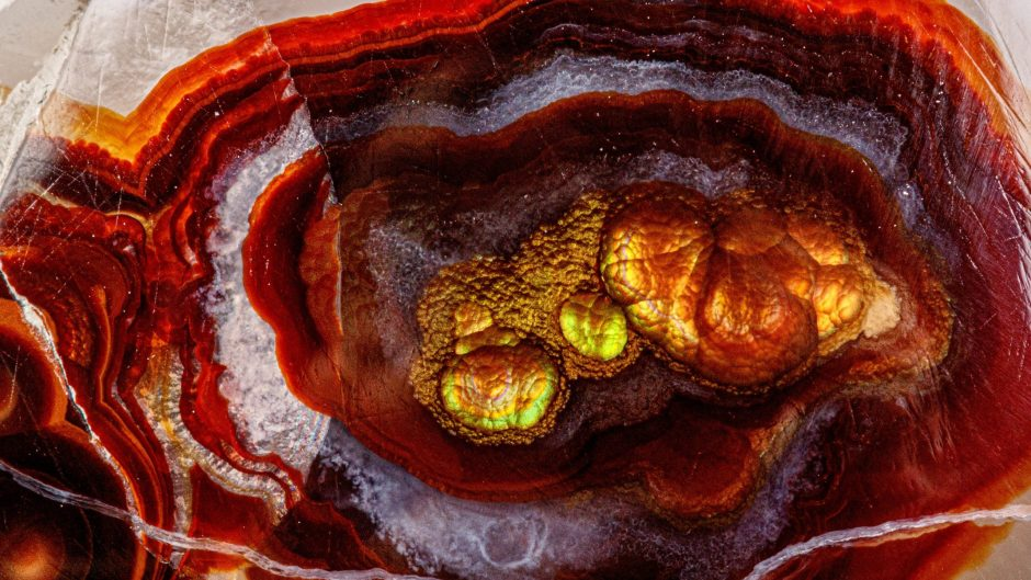 macro mineral stone fire agate