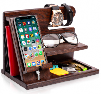 Multifunctional Desk Organiser With Phone Docking Stand