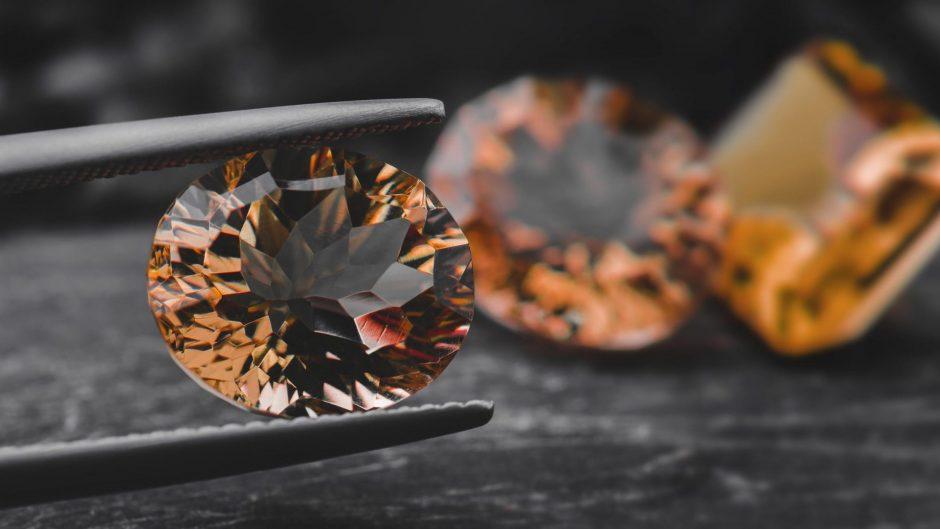 Orange color gemstone sapphire.