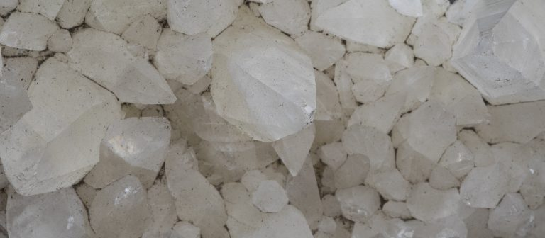 geological natural crystalline mineral white quartz stone
