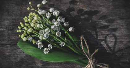 Bouquet of Lily of the Valley, the May birth flower