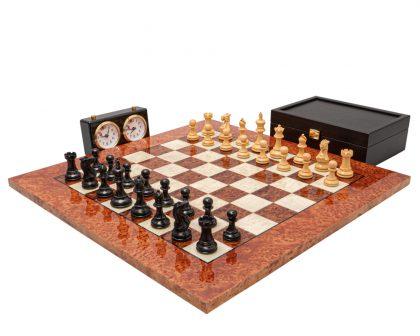 The Highgrove Ebony and Briarwood Luxury Chess Set