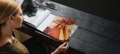 sample of Custom Photo Book white wall