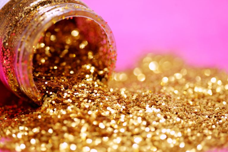 container of gold dust