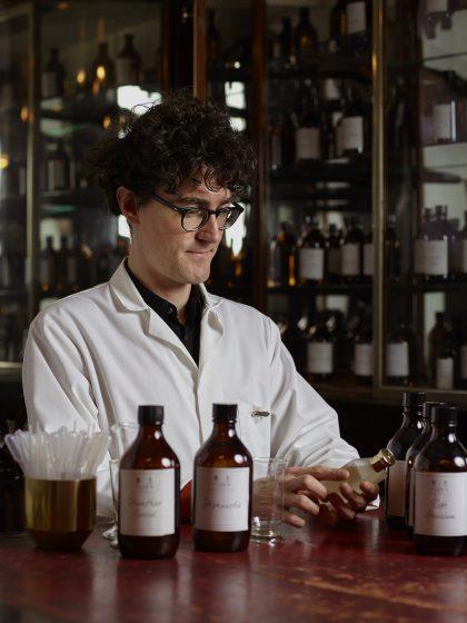 Floris perfumer making bespoke fragrance