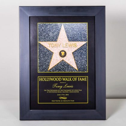 Personalised Hollywood walk of fame