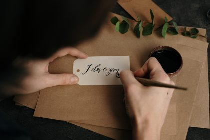 Calligraphy class for couples