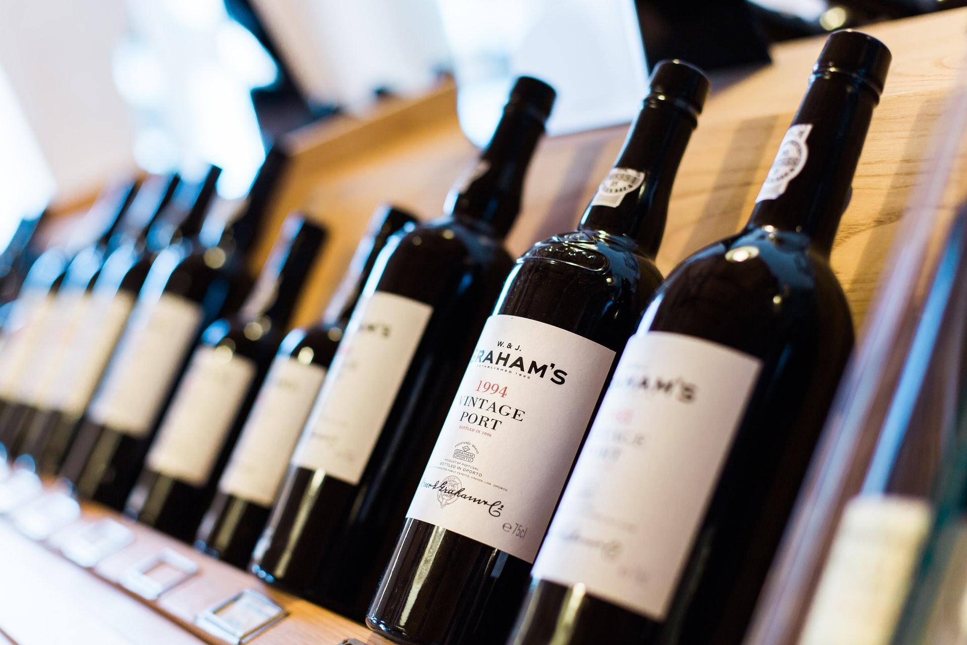 bottles of port wine