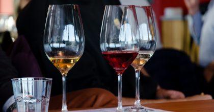 glasses of moscato wine