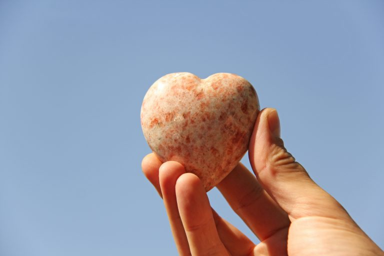 heart-shaped rhodochrosite