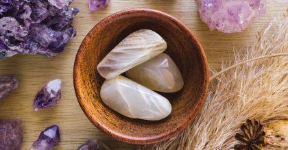 bowl of moonstone