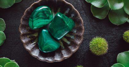 malachite stones